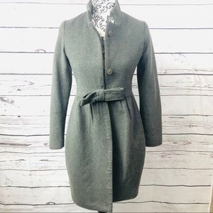 Stella McCartney Wool Blend Grey Coat 0/XS